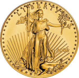 Gold American Eagle Coin, Bullion
